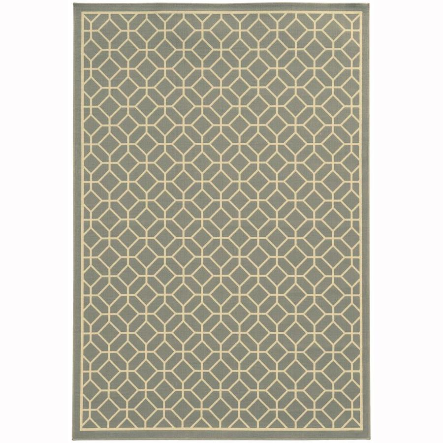 Archer Lane Elderberry Steel Indoor/Outdoor Area Rug (Common: 4 x 6; Actual: 3.58-ft W x 5.5-ft L)