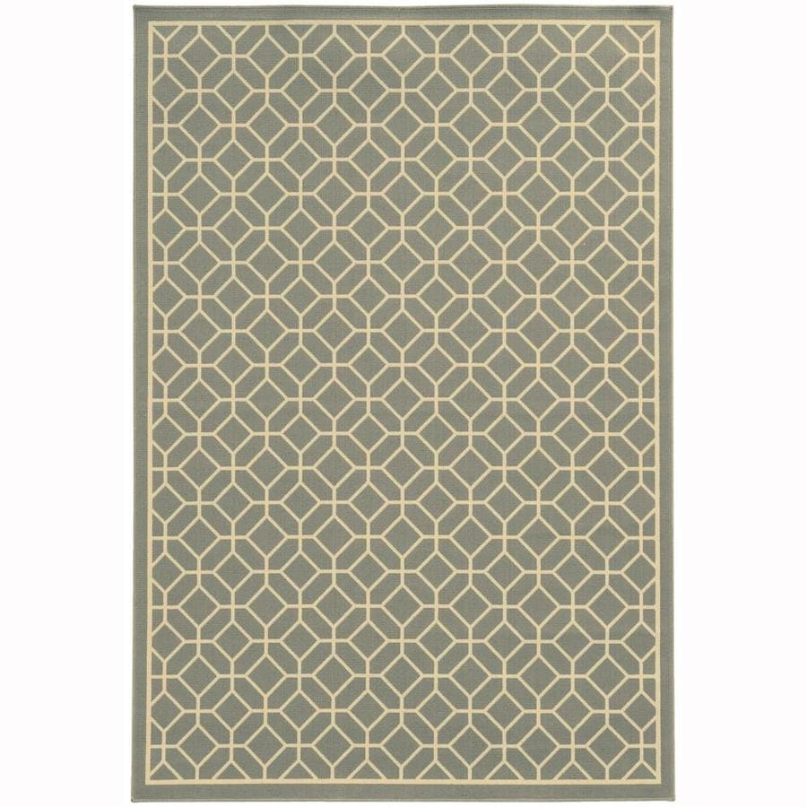 Archer Lane Elderberry Steel Rectangular Indoor/Outdoor Machine-Made Area Rug (Common: 5 x 8; Actual: 5.25-ft W x 7.5-ft L)