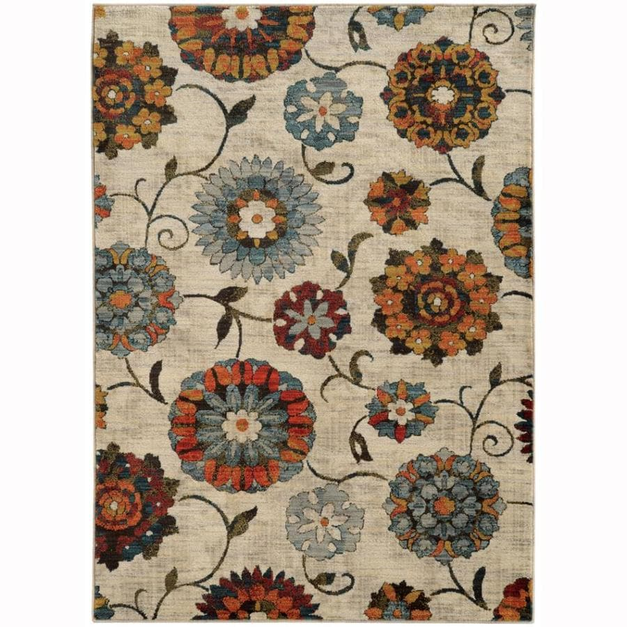 Archer Lane Fearnway 8 X 10 Ivory Indoor Floral Botanical Area Rug In The Rugs Department At Lowes Com