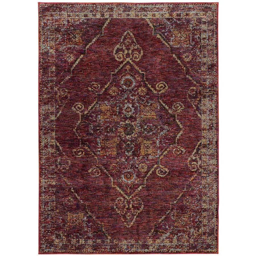 Archer Lane Sheffield Red Indoor Area Rug Common 3 X 5 Actual