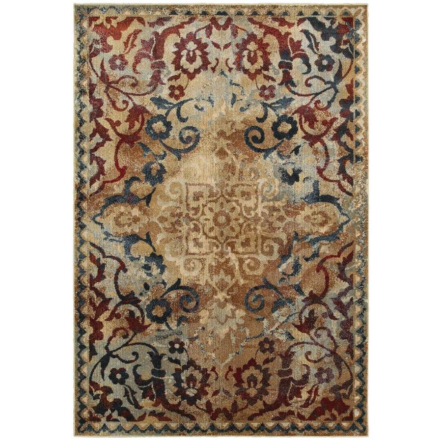 Archer Lane Macklone 7 X 10 Gold Indoor Floral Botanical Area Rug In The Rugs Department At Lowes Com