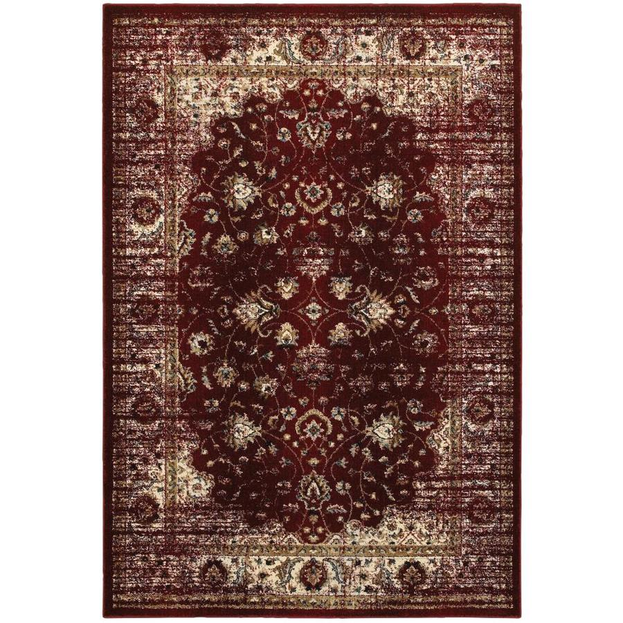 Archer Lane Sinclair 5 X 8 Red Indoor Floral Botanical Area Rug In The Rugs Department At Lowes Com