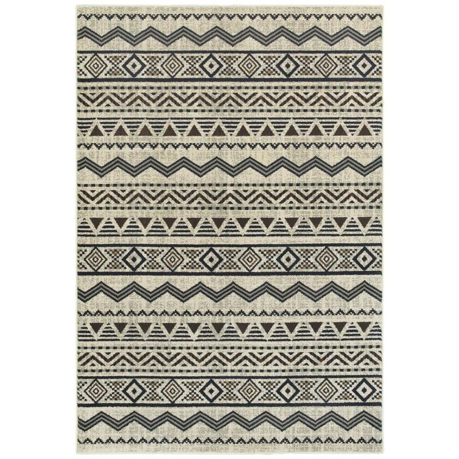 Archer Lane Cypress 8 X 10 Gray Indoor Geometric Area Rug In The Rugs Department At Lowes Com