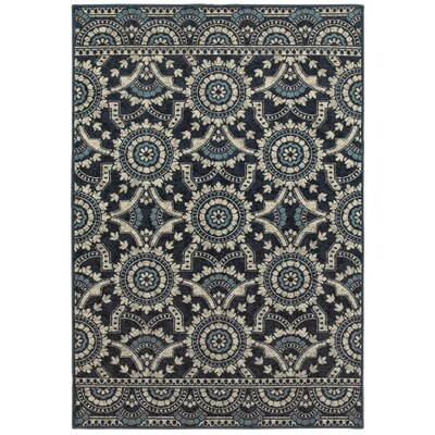 Archer Lane Midtown Navy Indoor Area Rug Common 7 X 10