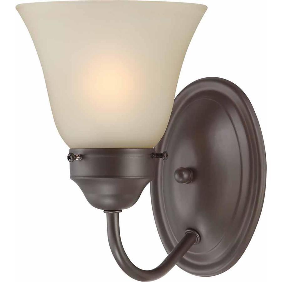 Ector 1-Light 8-in Antique Bronze Vanity Light