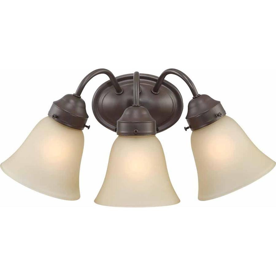 Ector 3-Light 8-in Antique Bronze Vanity Light