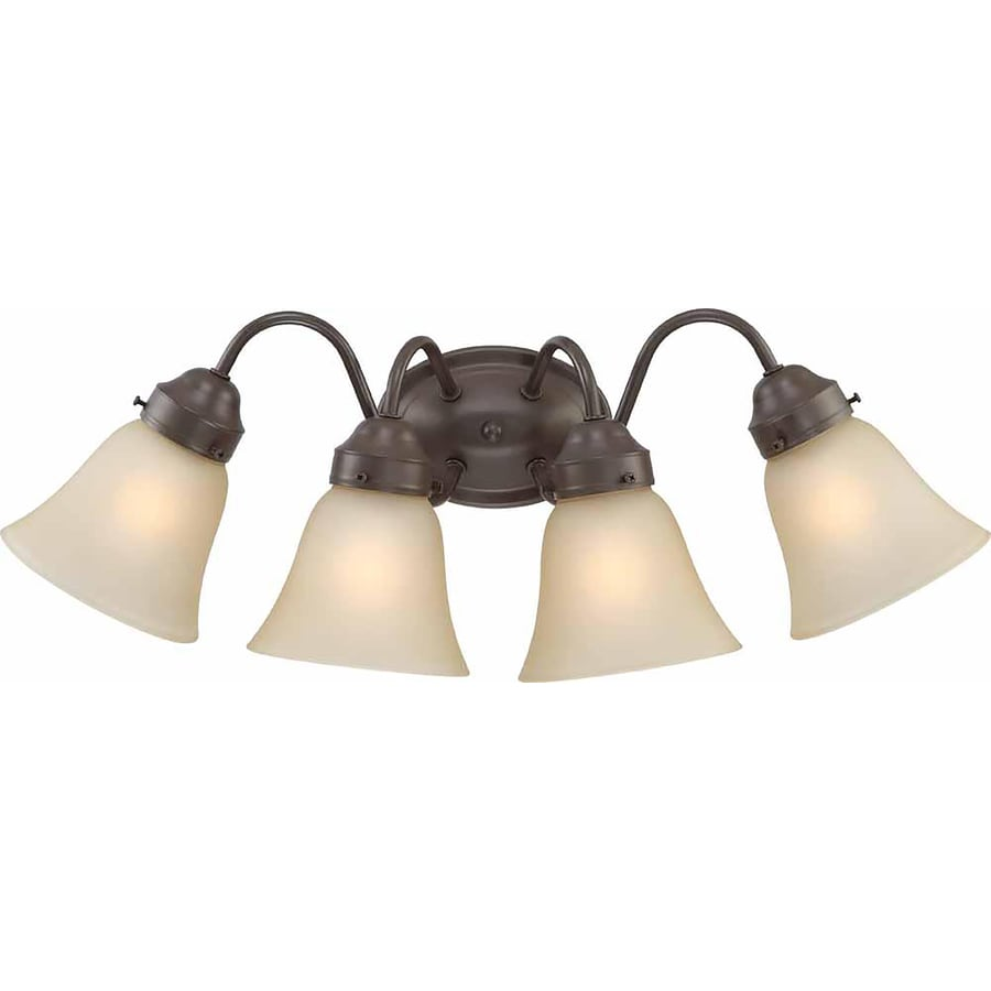 Ector 4-Light 9-in Antique Bronze Vanity Light