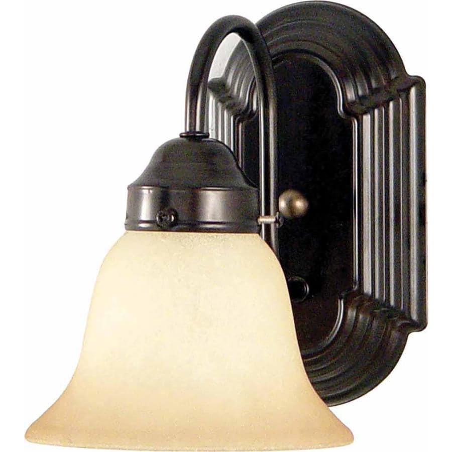Antique Bronze Vanity Lights : Shop Naylor 1-Light 8.5-in Antique Bronze Vanity Light at Lowes.com