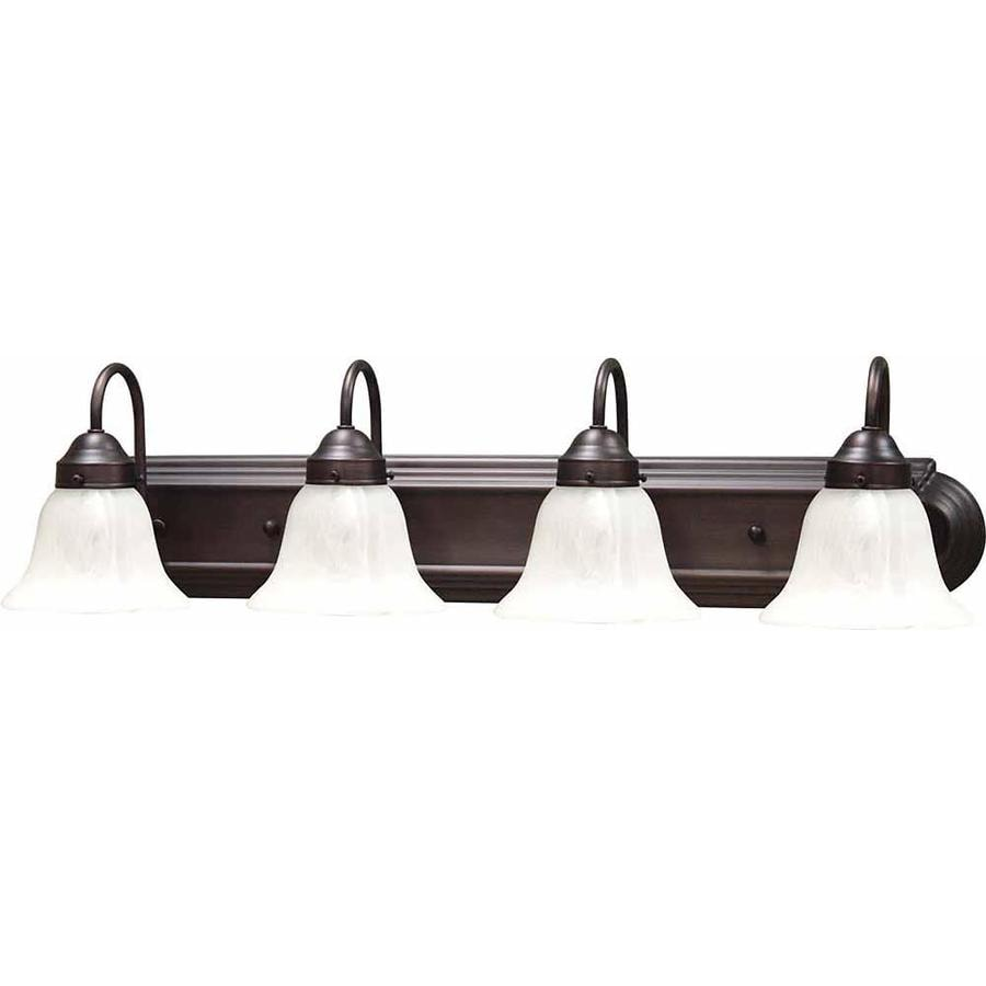 Lamonte 4-Light 8-in Florence Bronze Vanity Light
