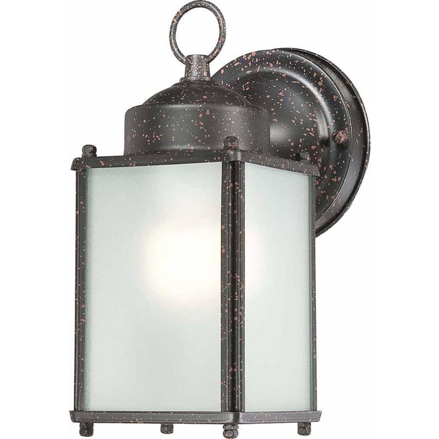 Roanoke 8-in H Rust Outdoor Wall Light