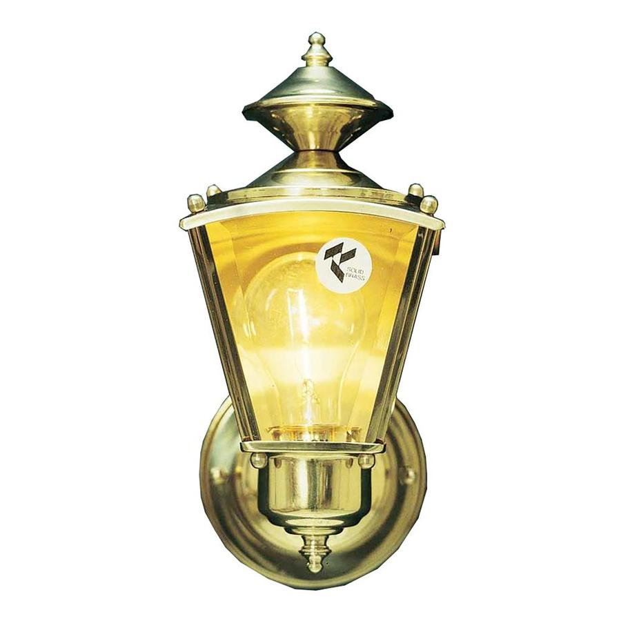 Foyil 10.75-in H Antique Solid Brass Outdoor Wall Light