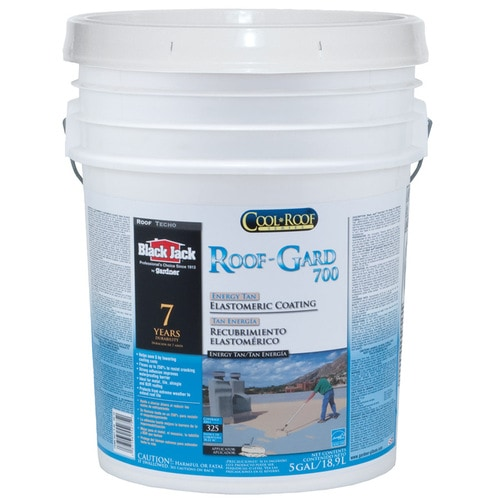 Black Jack Roof Gard 700 5 Gallon Elastomeric Reflective Roof Coating 7 Year Limited Warranty In The Reflective Roof Coatings Department At Lowes Com