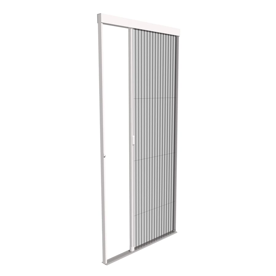 Shop phantom screens 36 x 80 1 2 vantage white for Best rated retractable screen doors