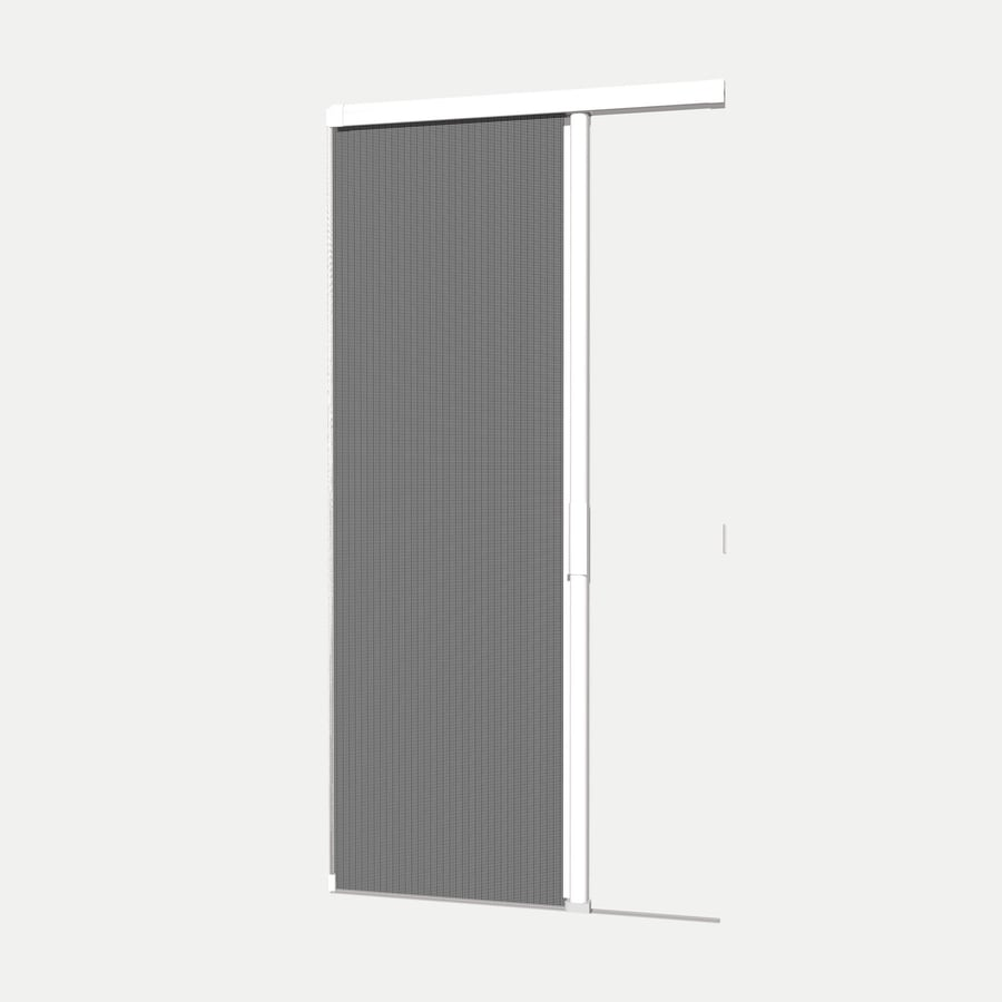 Shop phantom screens 36 in x 81 3 16 in white prehung for Retractable screen door white