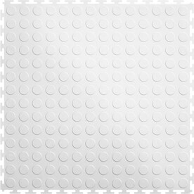Perfection Floor Tile 8 Piece 20 5 In X White Raised Coin