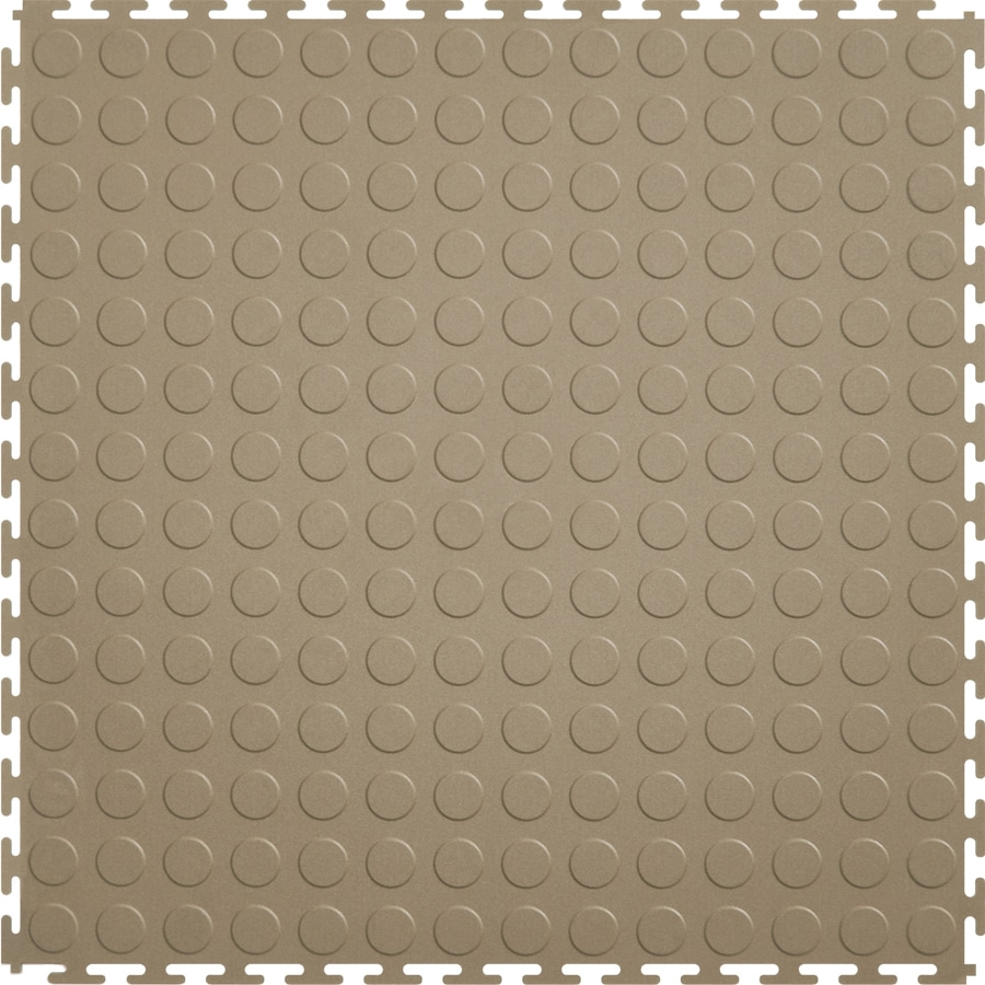 Shop perfection floor tile 8 piece 205 in x 205 in beige raised perfection floor tile 8 piece 205 in x 205 in beige raised coin dailygadgetfo Images