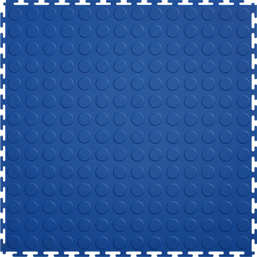 Tile 8 Piece 20 5 In X 20 5 In Dark Blue Raised Coin Garage Floor Tile