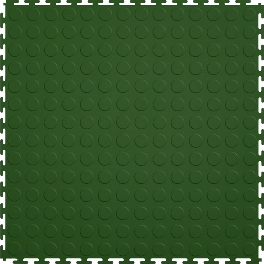 Perfection Floor Tile 8-Piece 20.5-in x 20.5-in Forest Green Raised Coin Garage Floor Tile
