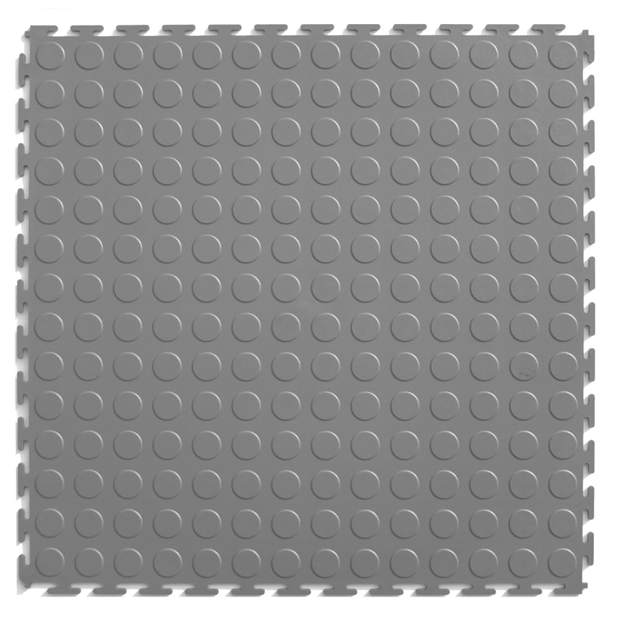 Rubber mats lowes - Perfection Floor Tile 8 Piece 20 5 In X 20 5 In Light Gray Raised