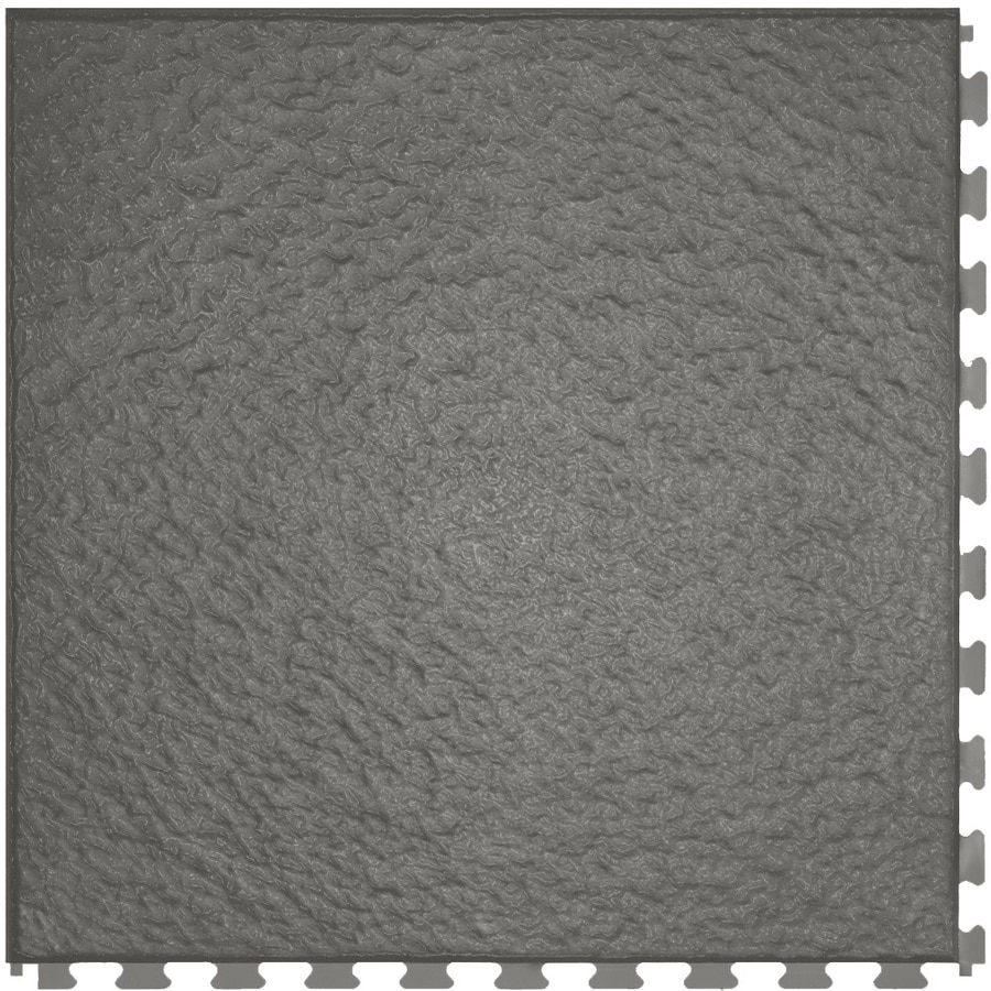 Perfection Floor Tile 6-Piece 20-in x 20-in Dark Gray Slate Garage Floor Tile