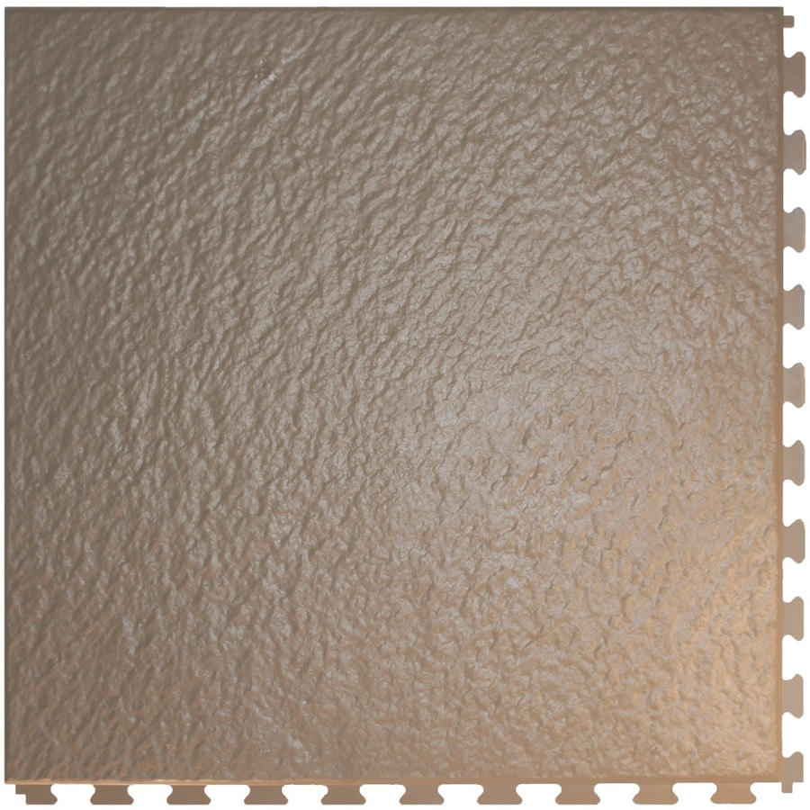 Perfection Floor Tile 6-Piece 20-in x 20-in Beige Slate Garage Floor Tile