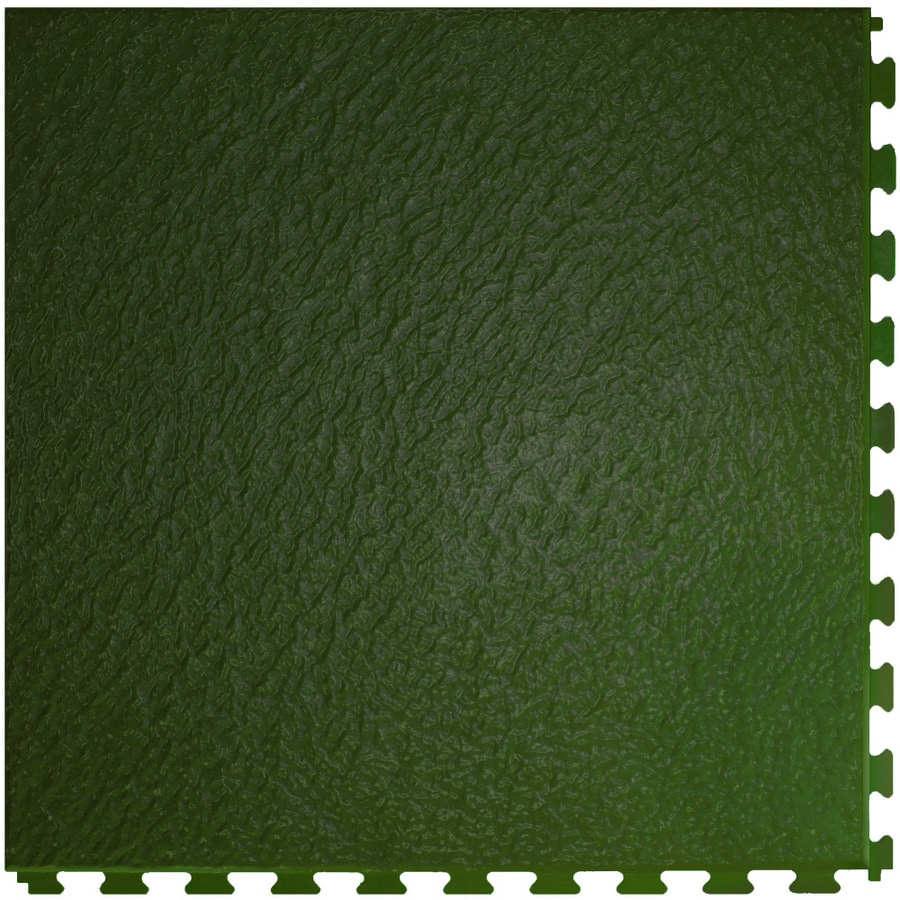Perfection Floor Tile 6 Piece 20 In X 20 In Hunter Green Slate