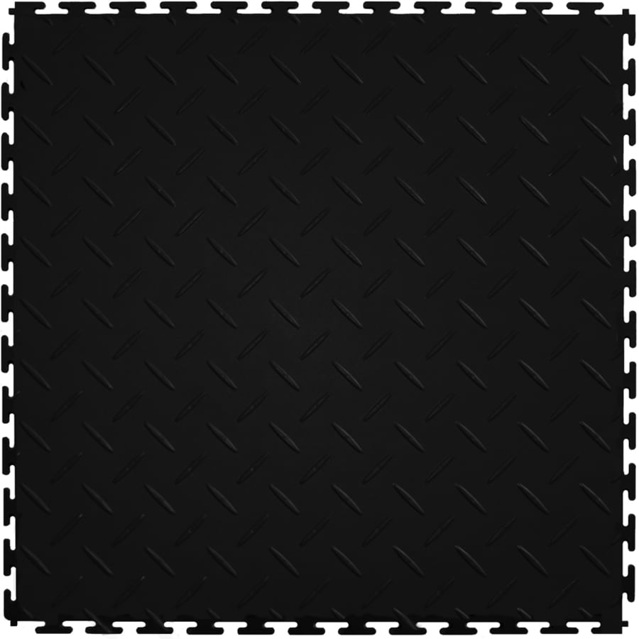 High Quality Perfection Floor Tile 8 Piece 20.5 In X 20.5 In Black Diamond Plate Design Inspirations