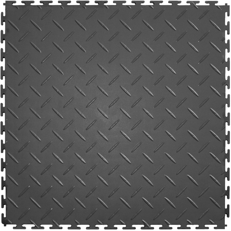 Perfection Floor Tile 8 Piece 20 5 In X Dark Gray Diamond
