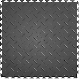Perfection Floor Tile Diamond 8 Piece 20 1 2 In X 20 1 2 In Black Diamond Plate Garage Floor Tile In The Garage Floor Tile Department At Lowes Com