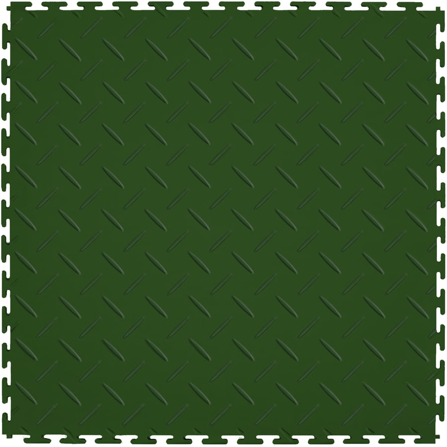 Perfection Floor Tile 8 Piece 20 5 In X Forest Green Diamond