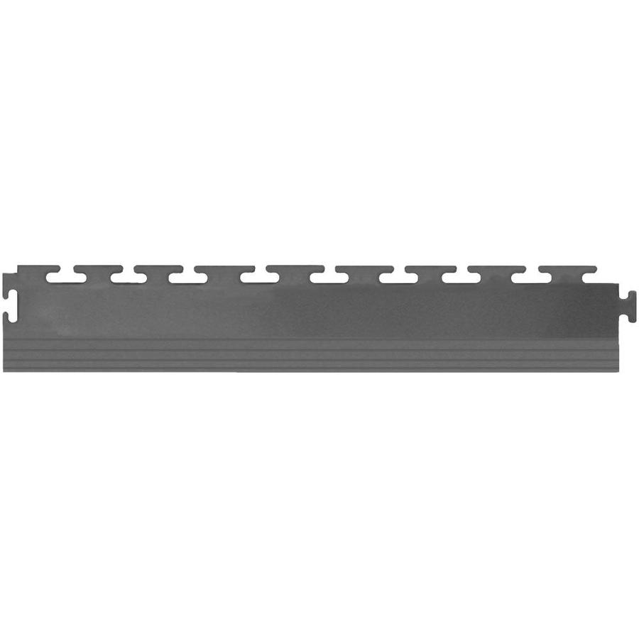 Perfection Floor Tile 4-Pack Dark Gray 3-in W x 20-1/2-in L Garage Flooring Edges