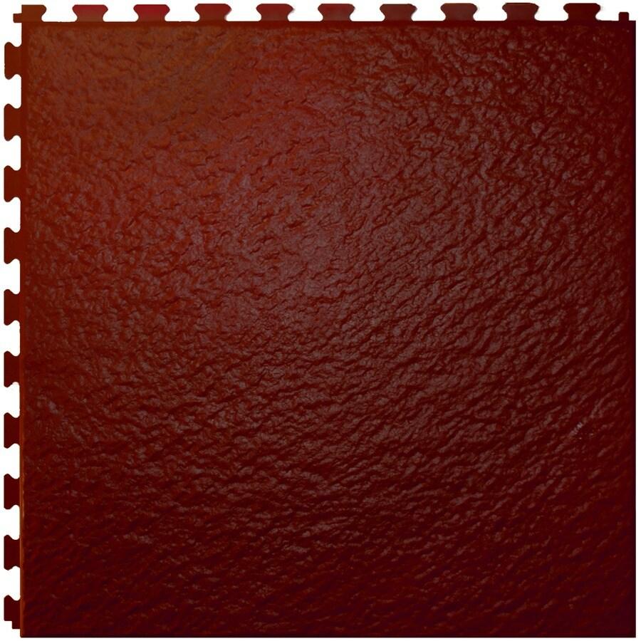 Shop Perfection Floor Tile 18w X 18l Rosewood Slate Garage Vinyl