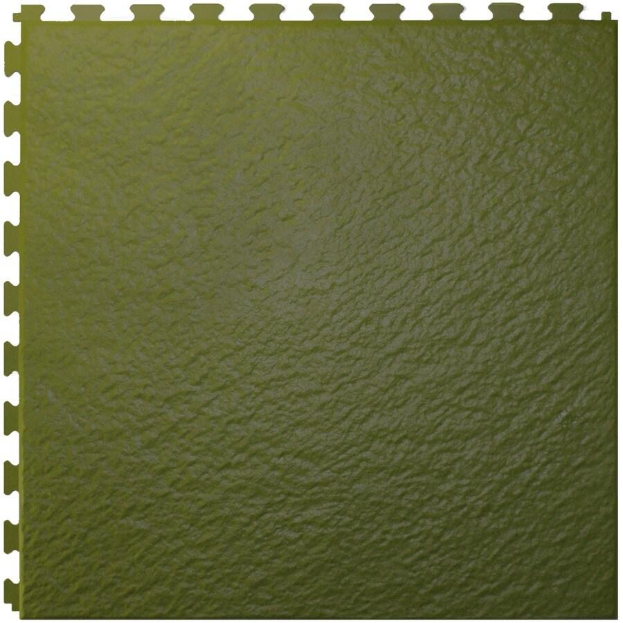 Perfection Floor Tile 6-Piece 20-in x 20-in Green Slate Garage Floor Tile