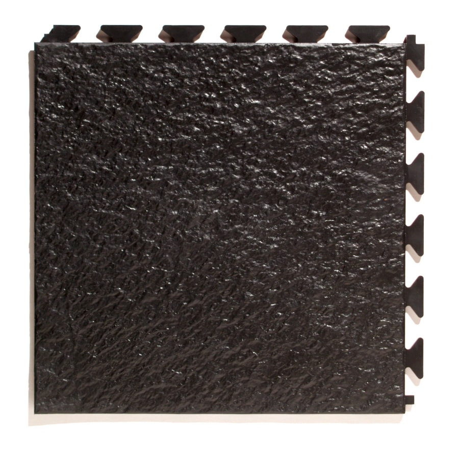 Shop garage floor tile at lowes perfection floor tile 6 piece 20 in x 20 in black slate garage dailygadgetfo Choice Image