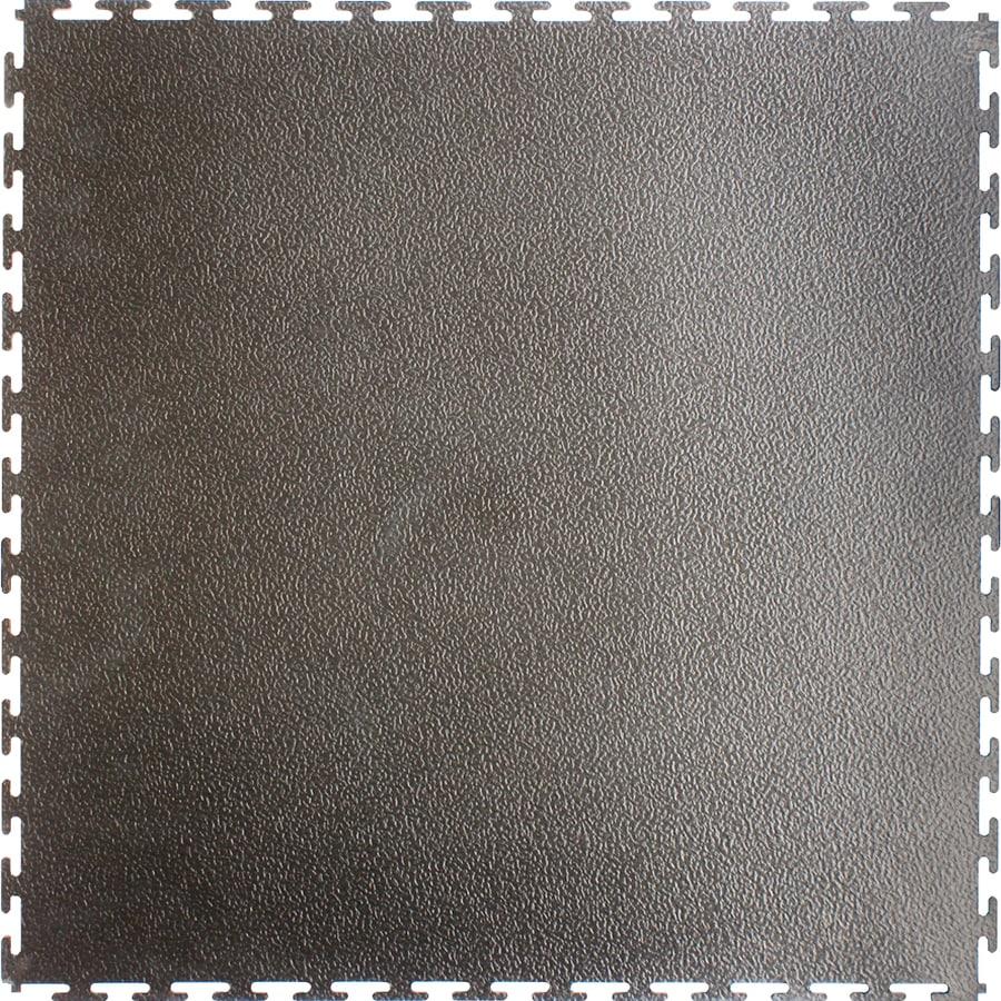 Flexi-Tile 20-1/2-in x 20-1/2-in Dark Gray Raised Coin Garage Flooring Tile