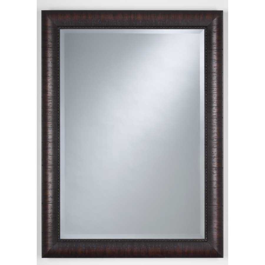 Thompson Traders Renovations 32-in H x 22-in W Espresso Rectangular Bathroom Mirror