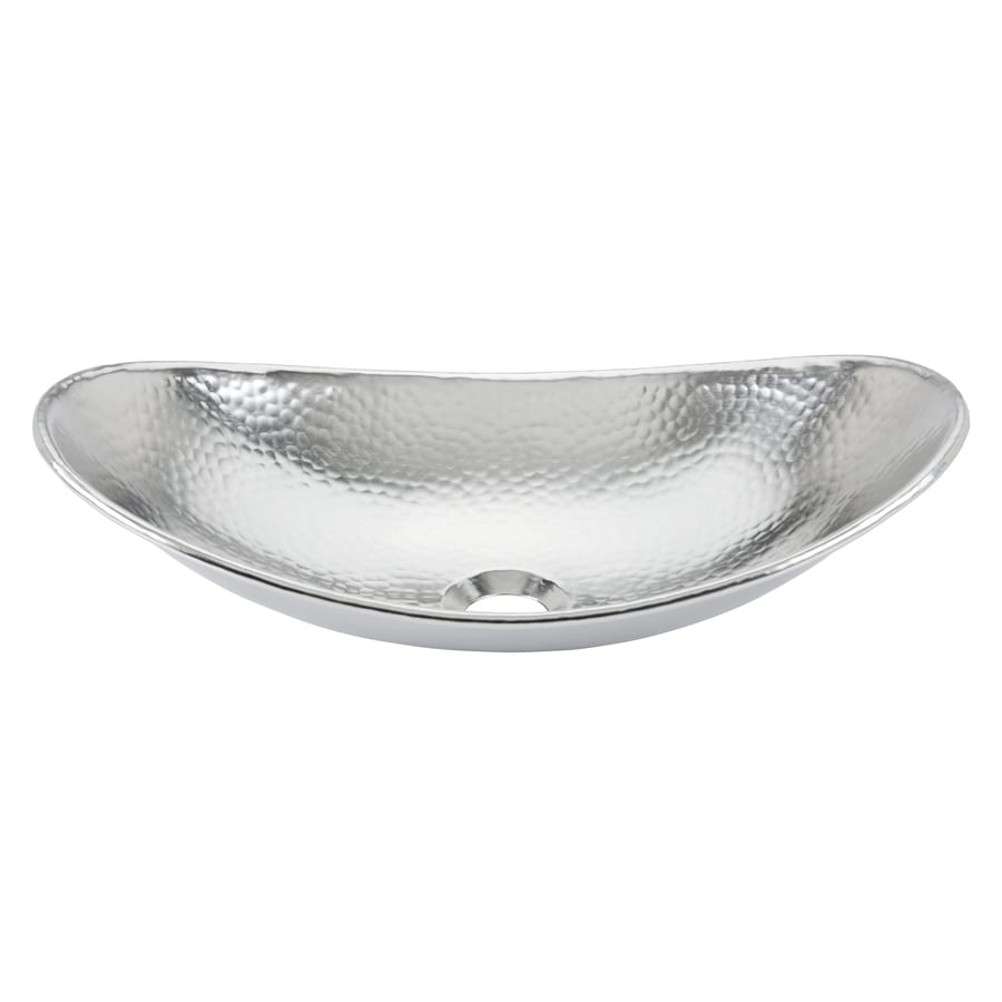 Beau SINKOLOGY Faraday Nickel Vessel Oval Bathroom Sink With Overflow