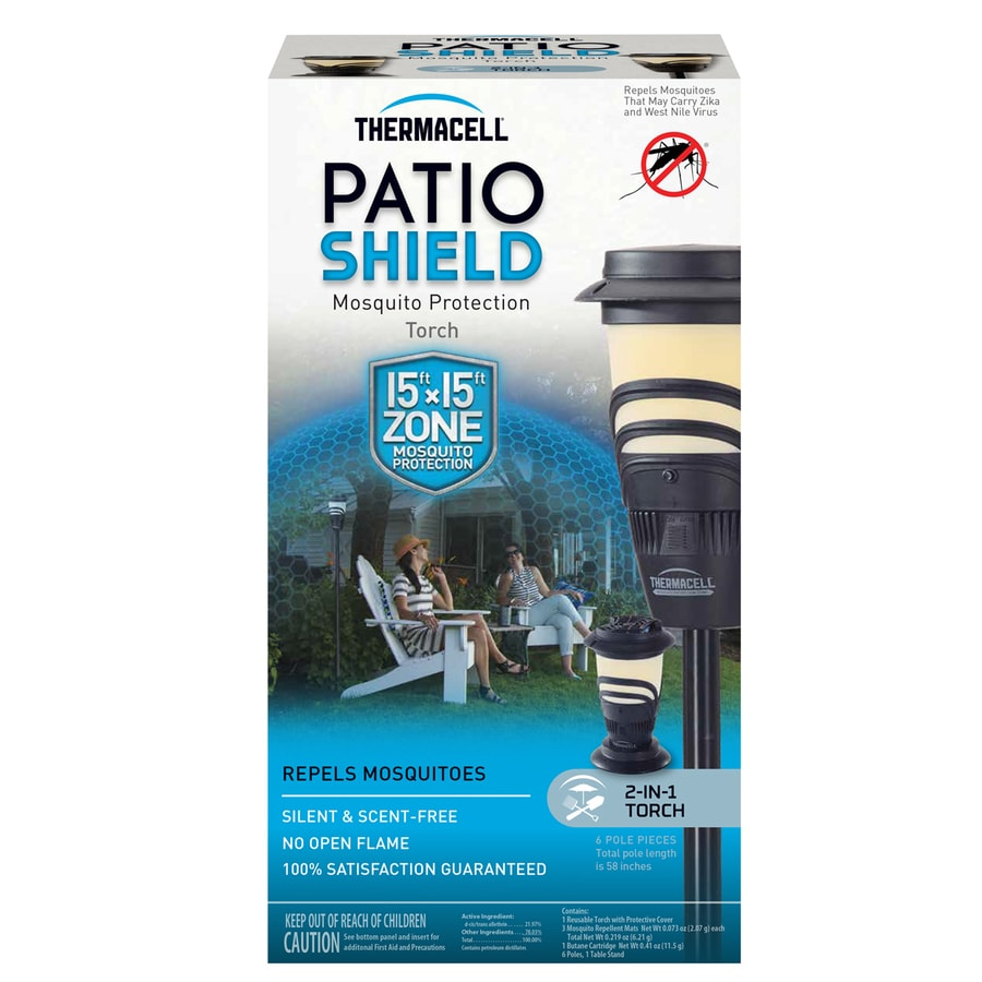 Thermacell Mosquito Repellent Patio Shield- with Adjustable Pole 11.5-in Black Plastic Tabletop Torch