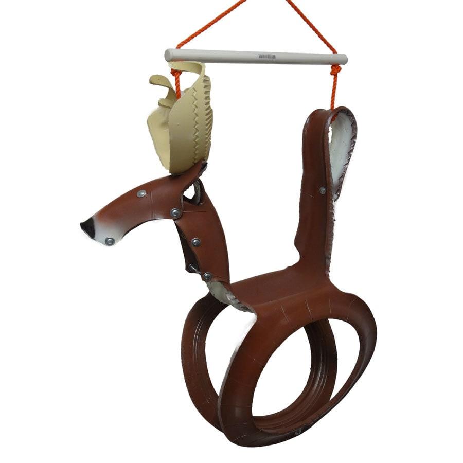Brown/Tan Tire Swing