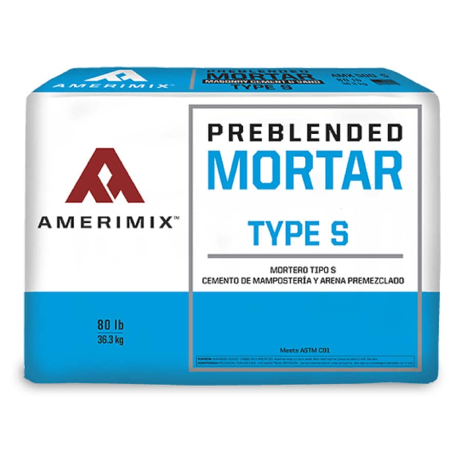 shop amerimix pre blended 80 lb gray type s mortar mix at