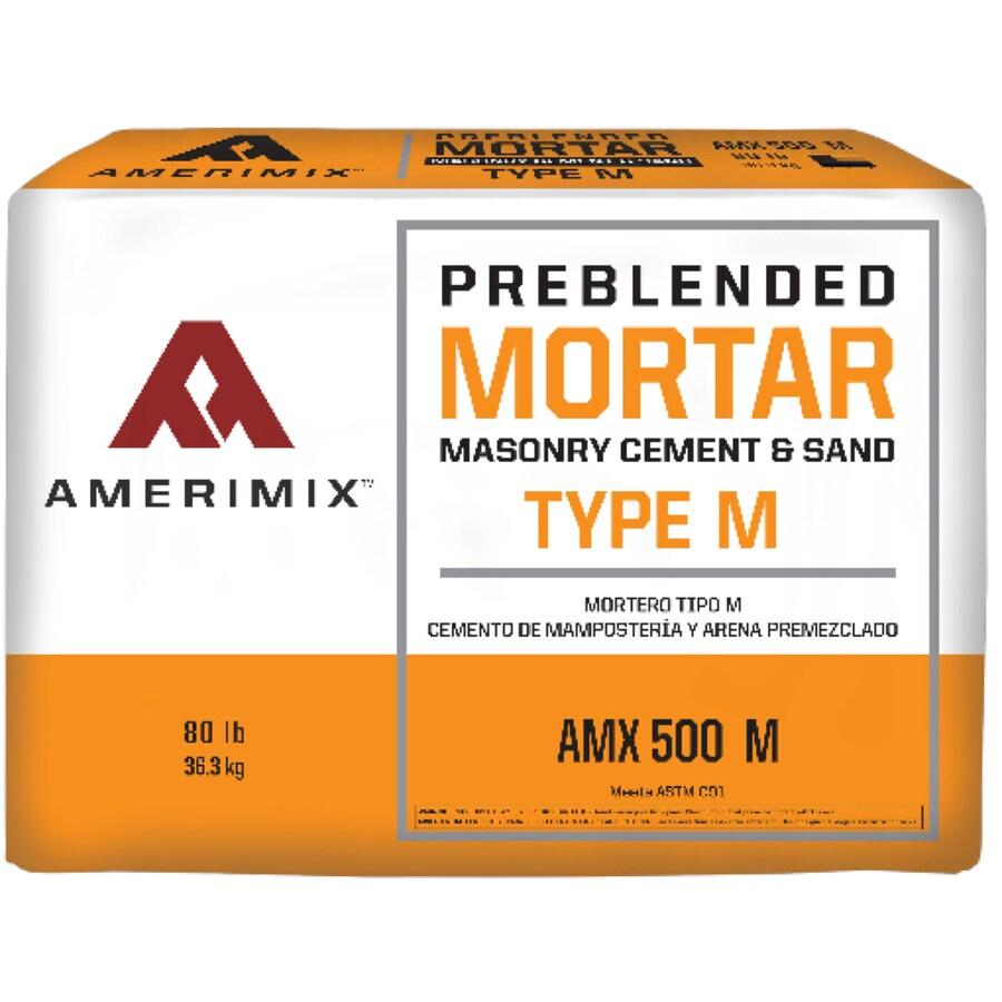 Shop amerimix pre blended 80 lb gray m mortar mix at for Amerimix stucco