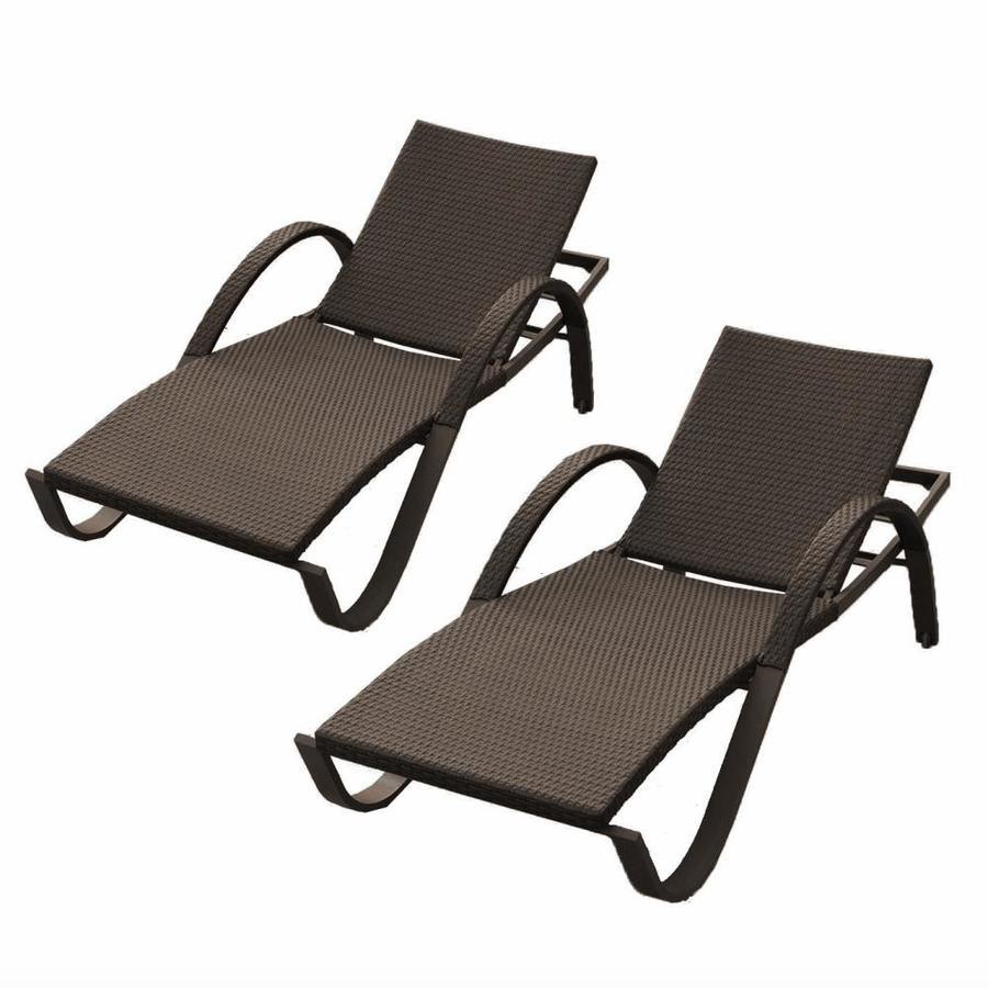 Rst Brands Deco Set Of 2 Wicker Stackable Aluminum Chaise