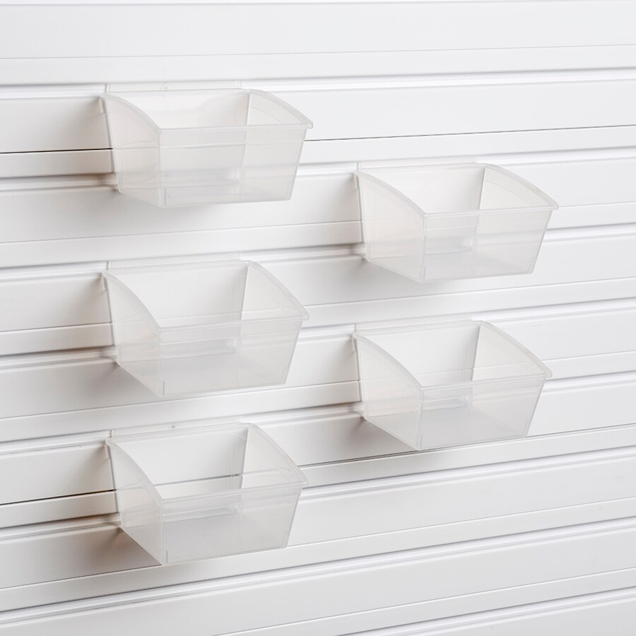 Flow Wall Small Hard 5 Piece Clear Plastic Bin At Lowes Com