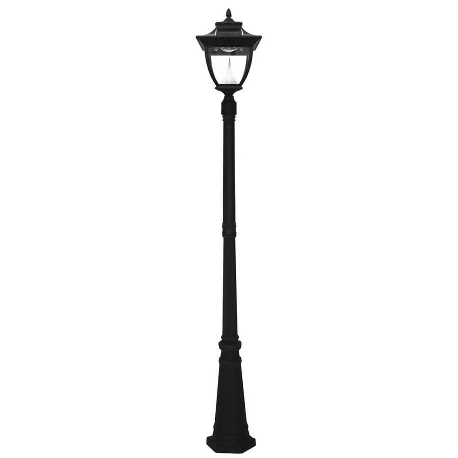 Gama Sonic Pagoda 87-in H Black Solar LED Post Light