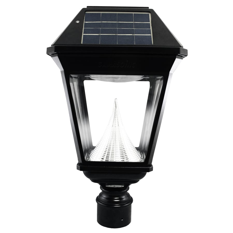 Gama Sonic Imperial-2 19-in H Black Solar LED Post Light