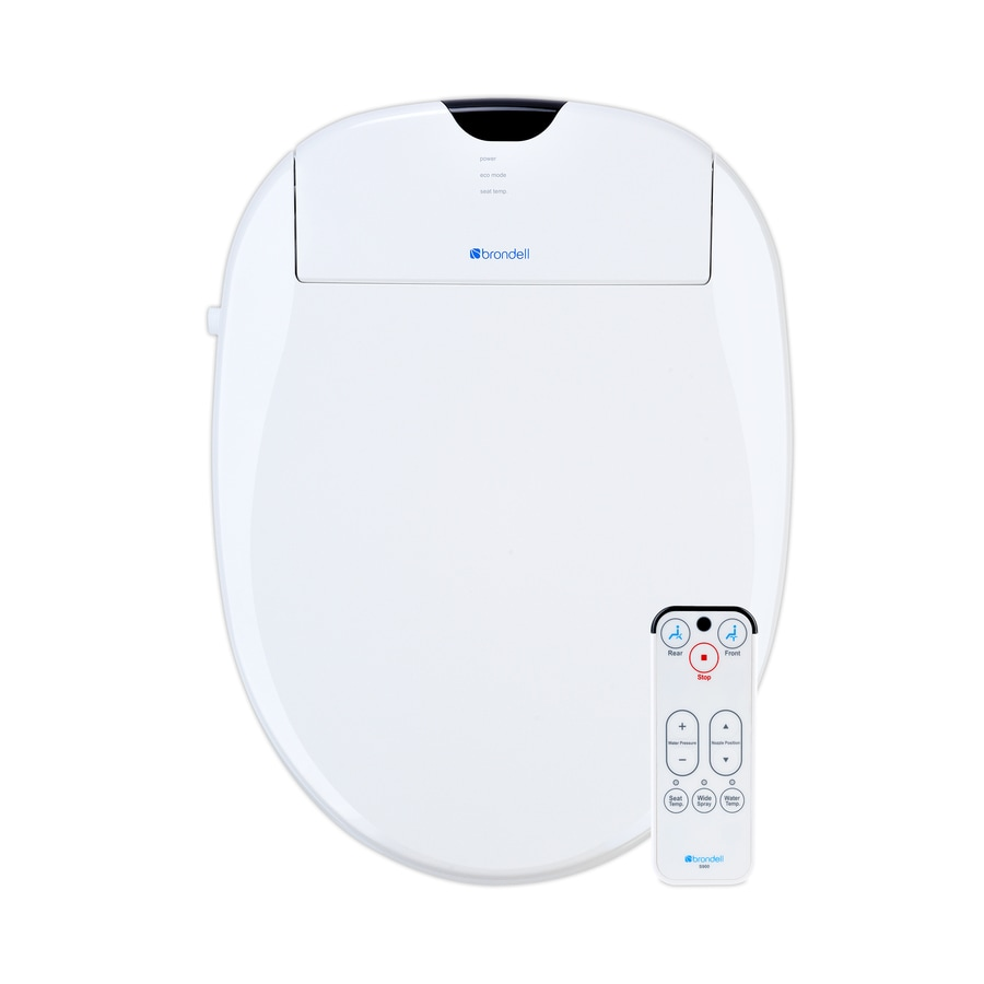 Brondell Plastic Round Slow Close Heated Bidet Function Toilet Seat