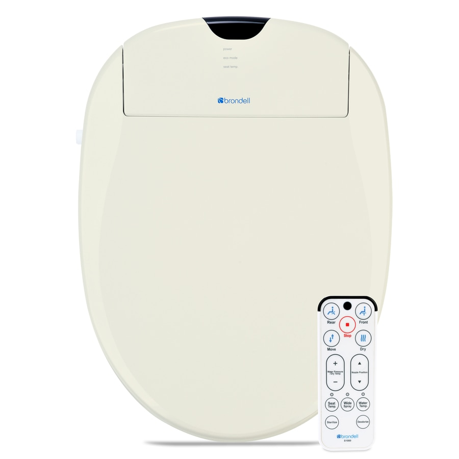 Brondell Plastic Elongated Slow Close Heated Bidet Function Toilet Seat