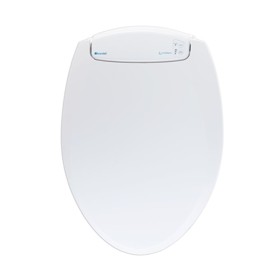 Brondell Plastic Elongated Slow Close Heated Toilet Seat