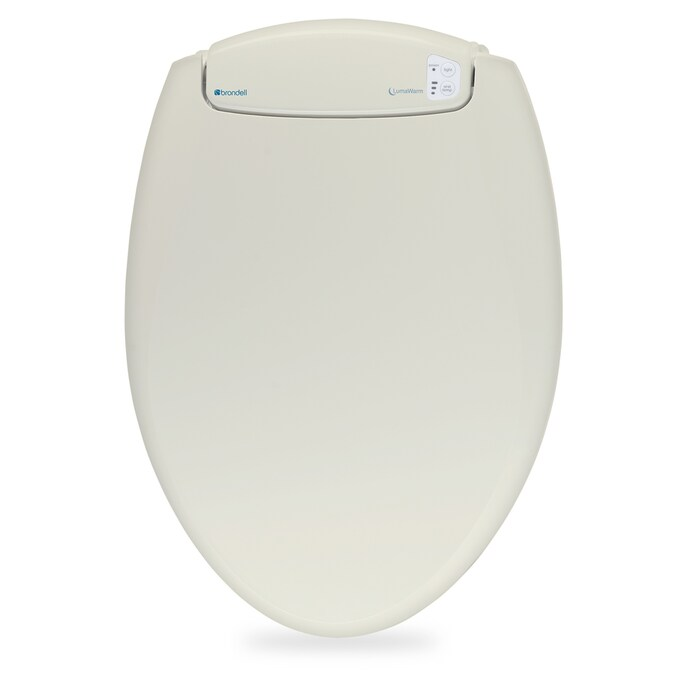 Brondell Lumawarm Biscuit Elongated Slow Close Heated Toilet Seat In The Toilet Seats Department At Lowes Com