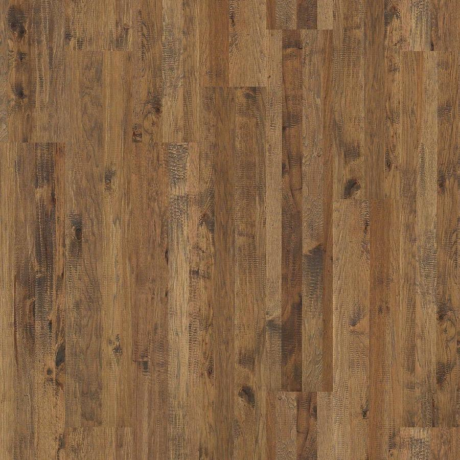 Shop shaw 8 in castel hickory hickory solid hardwood for Hardwood floors hickory